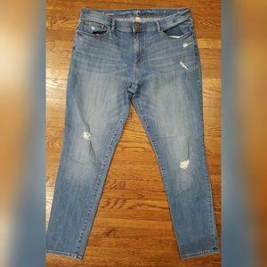 Loft Girlfriend Midrise Distressed Jeans 8